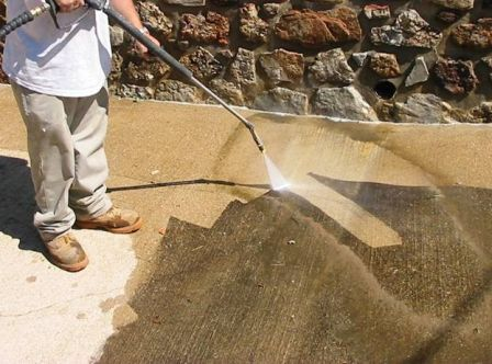 Powerwashing driveway for Best way to clean concrete driveway without pressure washer